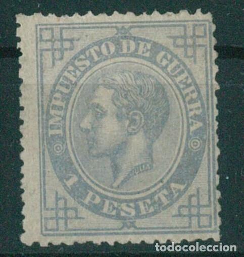 Sellos: EDIFIL 183/187.ALFONSO XII IMPUESTO GUERRA.INCLUYE 5c.FALSO POSTAL GRAUSS Y 5c.ERROR DE COLOR. - Foto 13 - 181944100