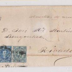 Sellos: ENVUELTA. AVILÉS, ASTURIAS. 1877. MUESTRA DE AZÚCAR. Lote 183864748
