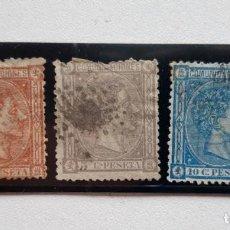 Sellos: EDIFIL 162, 163 Y 164, ALDONSO XII 1875. Lote 184015715