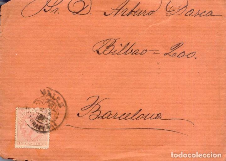 AÑO1882 EDIFIL 210 ALFONSO XII SOBRE MATASELLOS VALLS TARRAGONA (Sellos - España - Alfonso XII de 1.875 a 1.885 - Cartas)
