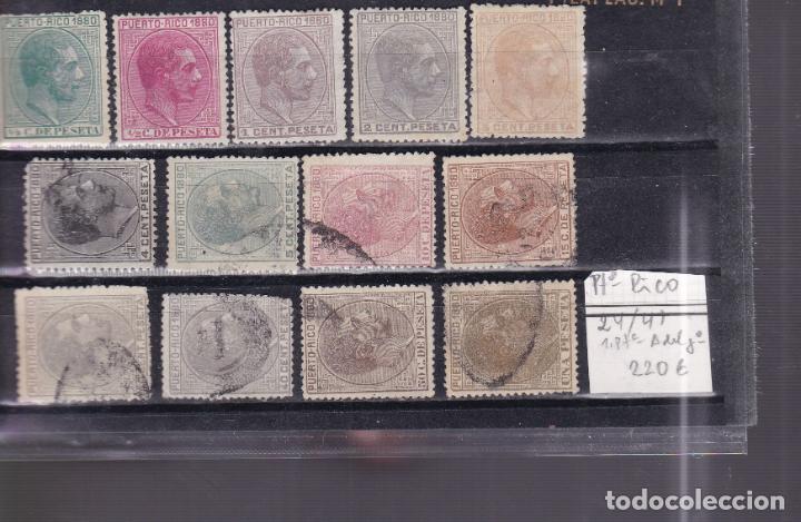 JJ3- COLONIAS PUERTO RICO EDIFIL 24/ 41 (Sellos - España - Alfonso XII de 1.875 a 1.885 - Usados)