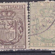Timbres: TT5-COLONIAS CUBA TELÉGRAFOS EDIFIL 63 /64 . Lote 185904200