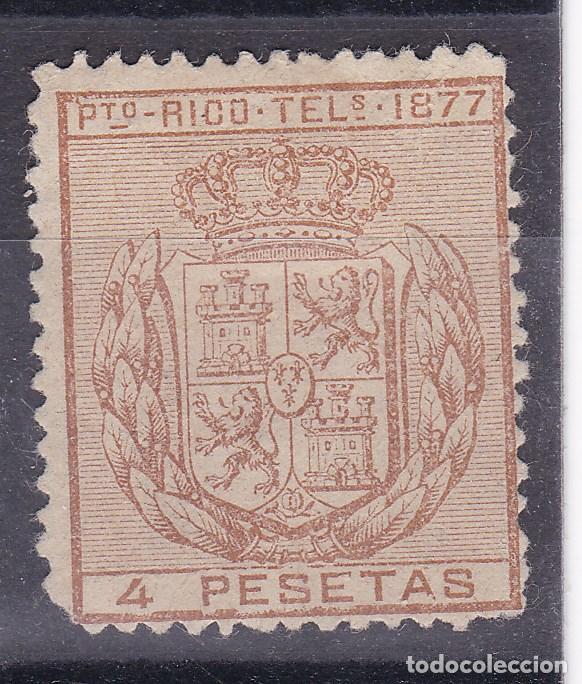 TT7- COLONIAS PUERTO RICO TELÉGRAFOS EDIFIL 16 .* CON FIJASELLOS (Sellos - España - Alfonso XII de 1.875 a 1.885 - Nuevos)