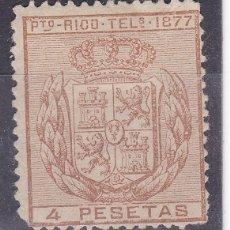 Sellos: TT7- COLONIAS PUERTO RICO TELÉGRAFOS EDIFIL 16 .* CON FIJASELLOS. Lote 185922443