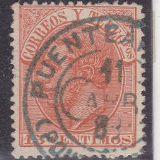 Sellos: TT10- CLÁSICOS ALFONSO XII EDIFIL 210 MATASELLOS TREBOL PUENTEAREAS PONTEVEDRA. Lote 186033862