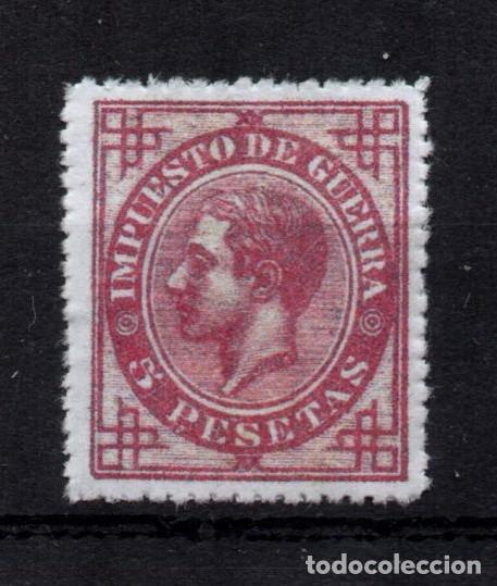 EDIFIL 187 NUEVO *, 5 PESETAS, 1876, ESPAÑA, SPAIN (Sellos - España - Alfonso XII de 1.875 a 1.885 - Nuevos)