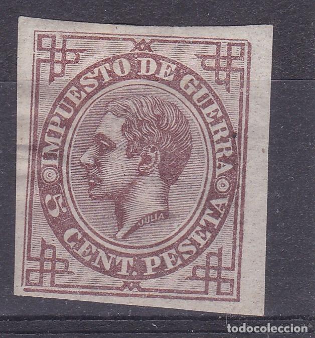 TT24- CLÁSICOS IMPTº GUERRA EDIFIL 183 PRUEBA EN COLOR VIOLETA SIN DENTAR * CON FIJASELLOS. (Sellos - España - Alfonso XII de 1.875 a 1.885 - Nuevos)