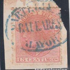 Sellos: ESPAÑA, 1882 EDIFIL Nº 210, CARTERIA / BALEARES / ALAYOR. . Lote 187205580