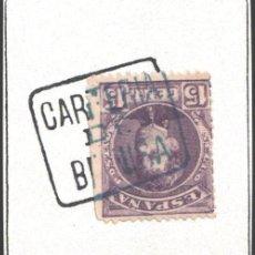 Sellos: CARTERÍAS INICIATIVA PARTICULAR, ALICANTE / BENISA, AZUL. Lote 187220282
