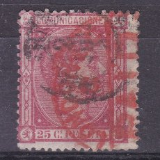 Francobolli: KK7- CLÁSICOS EDIFIL 166. DOBLE MATASELLOS FECHADOR Y ROJO LONDON PAID. Lote 188403582