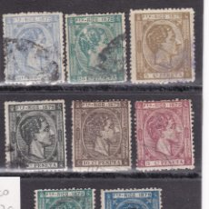Timbres: DD12- COLONIAS PUERTO RICO 1878 /79 X 8 VALORES USADOS. . Lote 190778457