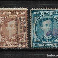 Sellos: ESPAÑA 1876 EDIFIL 174/175 - 15/22. Lote 191208351