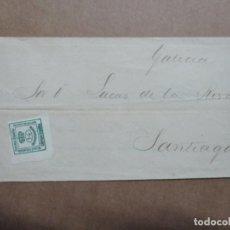 Sellos: IMPRESO CIRCULADO 1885 DE AVISO EMBARQUE VAPOR IBARRAVAL DE BILBAO A SANTIAGO. Lote 191970505