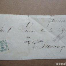 Sellos: IMPRESO CIRCULADO 1884 DE AVISO EMBARQUE VAPOR VIZCAYA DE BILBAO A SANTIAGO. Lote 191970736