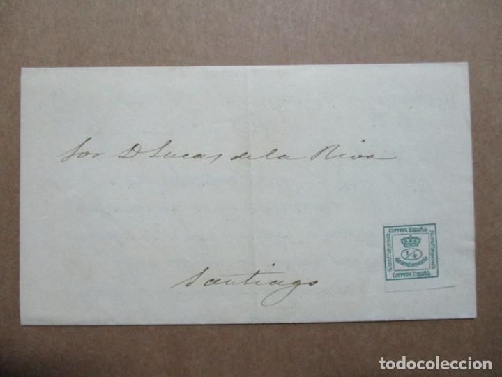 IMPRESO CIRCULADO 1880 DE MALAGA A SANTIAGO CORUÑA GALICIA (Sellos - España - Alfonso XII de 1.875 a 1.885 - Cartas)