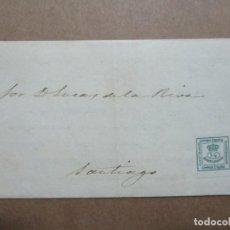 Timbres: IMPRESO CIRCULADO 1880 DE MALAGA A SANTIAGO CORUÑA GALICIA . Lote 191975777