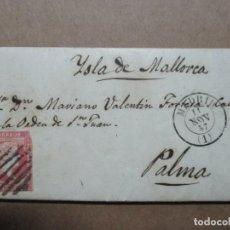 Timbres: CIRCULADA Y ESCRITA 1857 DE MADRID A PALMA DE MALLORCA BALEARES. Lote 191976686