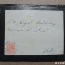 Sellos: CIRCULADA Y ESCRITA 1884 DE FELANITX A SOLLER BALEARES. Lote 191992371
