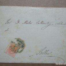 Sellos: CIRCULADA Y ESCRITA 1884 SECRETARIA AYUNTAMIENTO MANACOR A SOLLER BALEARES. Lote 191992990
