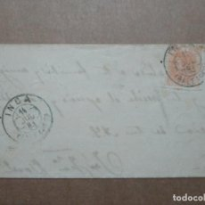Francobolli: CIRCULADA Y ESCRITA 1883 DE PALMA DE MALLORCA A SELVA POR INCA BALEARES. Lote 191993592