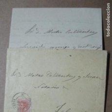 Sellos: CIRCULADA Y ESCRITA 1885 DE PALMA DE MALLORCA A FELANITX BALEARES. Lote 191993972