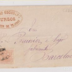 Sellos: CARTA ENTERA. BURGOS. 1882. BONITA MARCA COMERCIAL. Lote 193319025