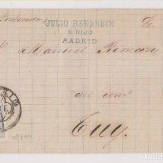 Francobolli: CARTA ENTERA. 1881. MADRID A TUY, PONTEVEDRA. GALICIA. VER ETIQUETA AL DORSO. Lote 194162822