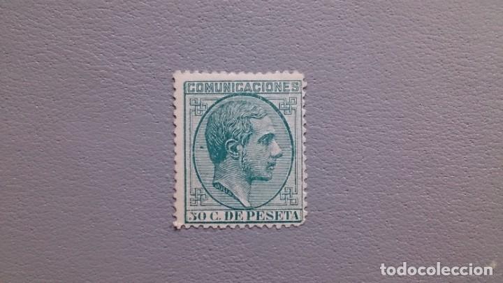 ESPAÑA - 1878 - ALFONSO XII - EDIFIL 196 - MH* - NUEVO - LUJO - CENTRADO - VALOR CATALOGO 150€. (Sellos - España - Alfonso XII de 1.875 a 1.885 - Nuevos)