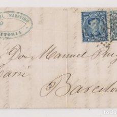 Francobolli: CARTA ENTERA.VITORIA, PAÍS VASCO. IMPUESTO DE GUERRA. 1876. MARCA COMERCIAL. Lote 194630145