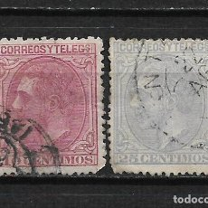 Sellos: ESPAÑA 1879 EDIFIL 202 Y 204 - 2/11. Lote 194937926