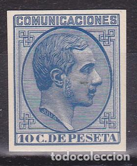 D03 ALFONSO XII EDIFIL Nº 192P PRUEBA DE PUNZON GALVEZ Nº 1054 (Sellos - España - Alfonso XII de 1.875 a 1.885 - Nuevos)