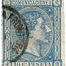 Sellos: COMUNICACIONES - 1876 - 10 CÉNTIMOS. Lote 195163166