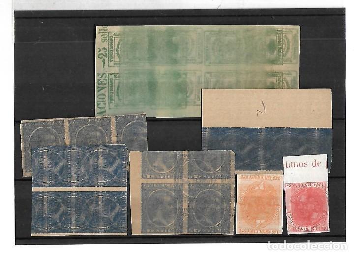 1876 - 1899. FICHA MACULATURAS. SIN DENTAR. PAREJAS Y BLOQUES DE 4. DOBLE IMPRESION E INVERTIDA (Sellos - España - Alfonso XII de 1.875 a 1.885 - Nuevos)