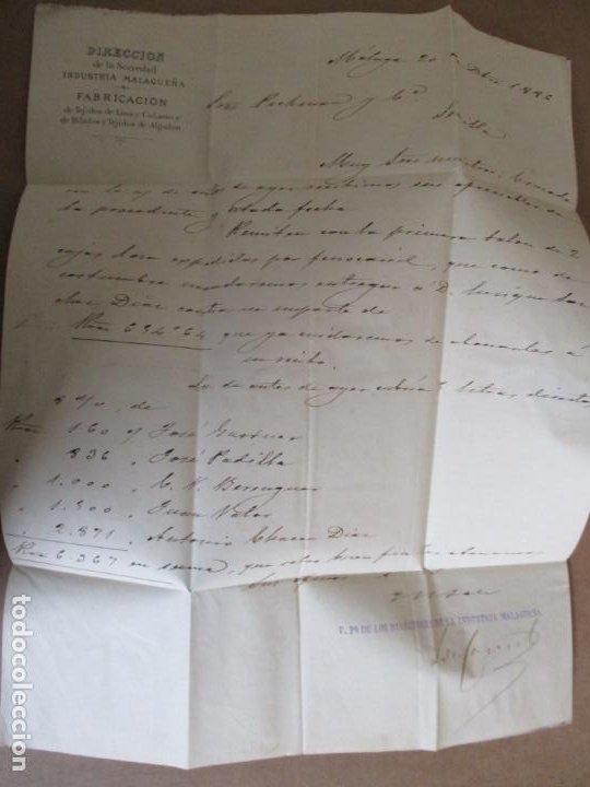 Sellos: circulada y escrita 1886 de malaga a sevilla con error en la fecha 1899 - Foto 2 - 196677237