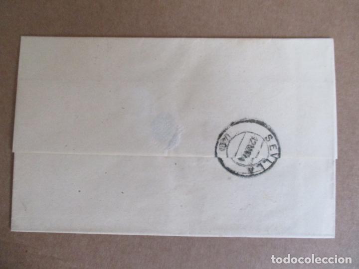 Sellos: circulada y escrita 1886 de malaga a sevilla - Foto 3 - 196677310