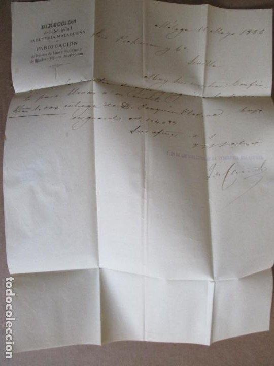 Sellos: circulada y escrita 1886 de malaga a sevilla - Foto 4 - 196677310