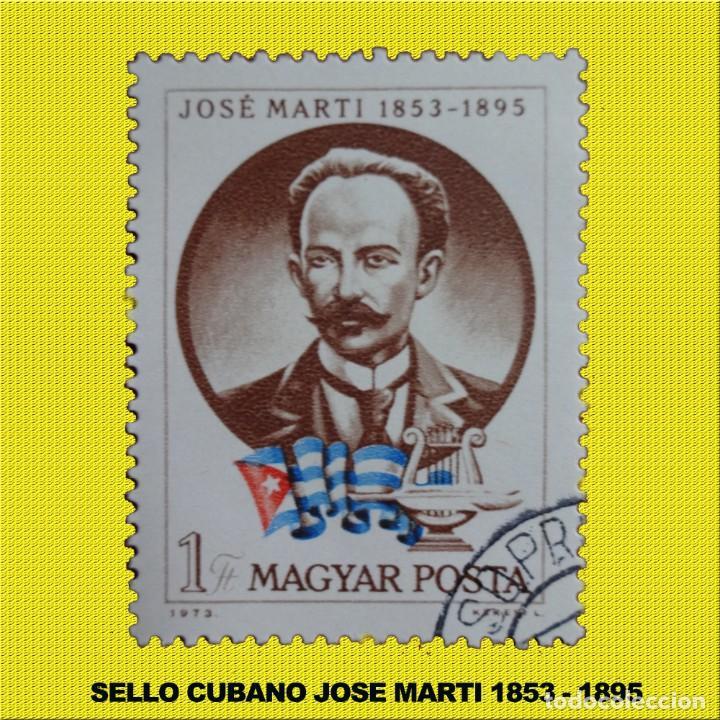 SELLO JOSE MARTI CIRCULO EN HUNGRIA 1973 (Sellos - España - Alfonso XII de 1.875 a 1.885 - Usados)