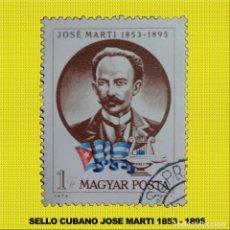Sellos: SELLO JOSE MARTI CIRCULO EN HUNGRIA 1973. Lote 198056905