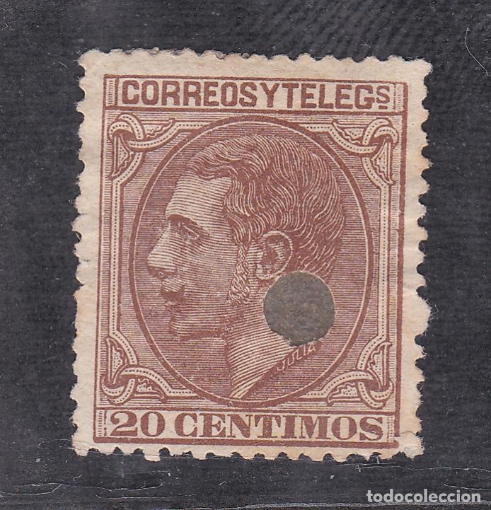 ESPAÑA.- Nº 203T TALADRADO TELEGRAFOS. (Sellos - España - Alfonso XII de 1.875 a 1.885 - Usados)