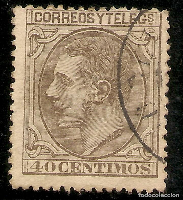 ESPAÑA EDIFIL 205 (º) 40 CÉNTIMOS CASTAÑO ALFONSO XII 1879 NL1591 (Sellos - España - Alfonso XII de 1.875 a 1.885 - Nuevos)
