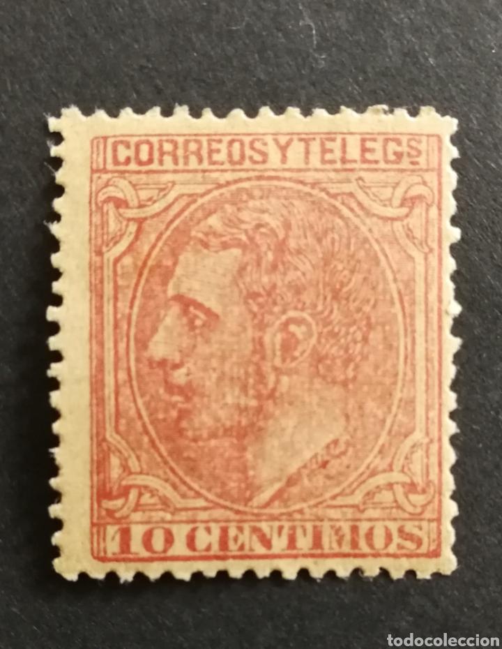 ESPAÑA N°202 NUEVO (FOTOGRAFÍA REAL) (Sellos - España - Alfonso XII de 1.875 a 1.885 - Nuevos)