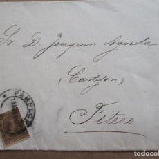 Sellos: CIRCULADA 1900 DE PAMPLONA A FITERO NAVARRA. Lote 199130850
