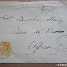 Sellos: CIRCULADA 1918 DE FITERO NAVARRA A ALFARO RIOJA. Lote 199152741