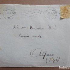 Sellos: CIRCULADA 1918 DE SAN SEBASTIAN A ALFARO RIOJA. Lote 199153430
