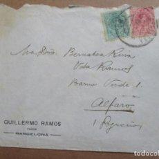 Sellos: CIRCULADA DE BARCELONA A ALFARO RIOJA. Lote 199154131