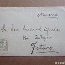 Sellos: CIRCULADA POR CASTEJON A FITERO NAVARRA. Lote 199215952