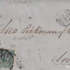 Sellos: CARTA COMPLETA CON SELLOS NUMS. 175 Y 183 DE AGUSTIN CORTINA EN BILBAO -1877-. Lote 199745172