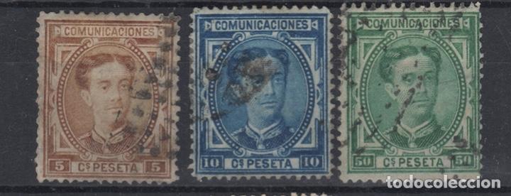 1876 ALFONSO XII EDIFIL 174(º), 175(º) Y 179(º) VC 22,50€ (Sellos - España - Alfonso XII de 1.875 a 1.885 - Usados)