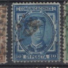 Sellos: 1876 ALFONSO XII EDIFIL 174(º), 175(º) Y 179(º) VC 22,50€. Lote 200078877