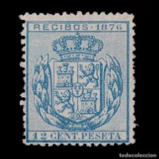Sellos: SELLOS ESPAÑA.FISCALES. 1876.RECIBOS.12C. NUEVO(*).GALVEZ 40. Lote 201998656